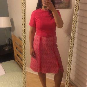 Vintage Pink-Pop Dress